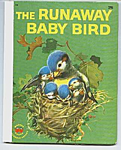 Runaway Baby Bird 1960 Wonder Book #748