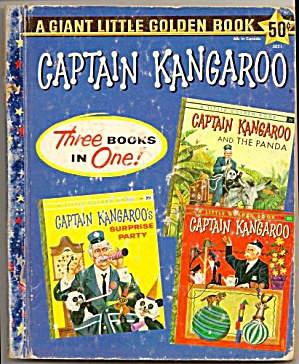 Captain Kangaroo 3 Books In Giant Little Golden Book