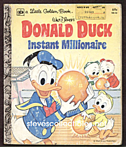 Donald Duck Instant Millionaire Little Golden Book