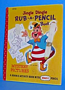 1950s JINGLE DINGLE Rub-A-Pencil BOOK (Image1)