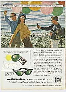 Cool 1960 CAT EYE SUNGLASSES Mag. Ad (Image1)
