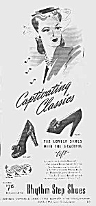 1944 RYTHM STEP Women's SHOES Mag. Ad (Image1)