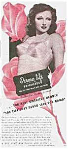 1944 PERMALIFT Bra Pinup Girl Ad (Image1)