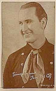 1940s Tim McCoy COWBOY Penny Arcade Card (Image1)