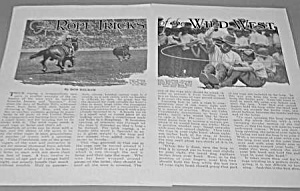 1927 COWBOY WILD WEST ROPE TRICKS Mag Article (Image1)