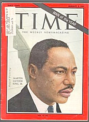 1964 Martin Luther King Jr. Man Of The Year Time Magazine