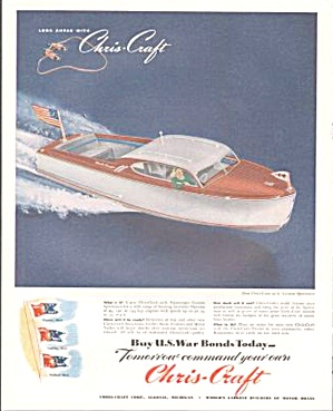 1945 Chris-craft 22 Ft. Custom Sportsman Magazine Ad