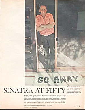 1965 Frank Sinatra At Fifty Magazine Article