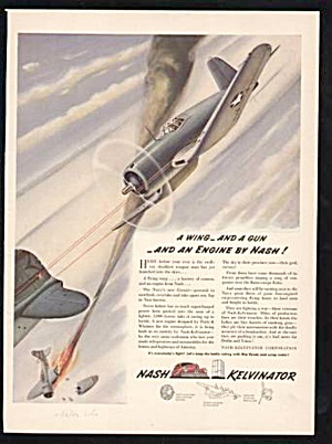Nice 1942 Nash Kelvinator Aircraft Wwii Aviation Ad