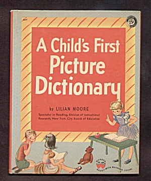 A Childs First Picture Dictionary Wonder Book 1948