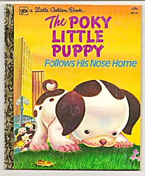 The Poky Little Puppy Follows His Nose Home-lgb