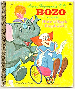 Tv Bozo And The Hide N Seek Elephant Little Golden Book