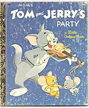TOM AND JERRYS PARTY Little Golden Book (Image1)