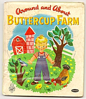 AROUND AND ABOUT BUTTERCUP FARM-Tell-A-Tale Book -1952 (Image1)