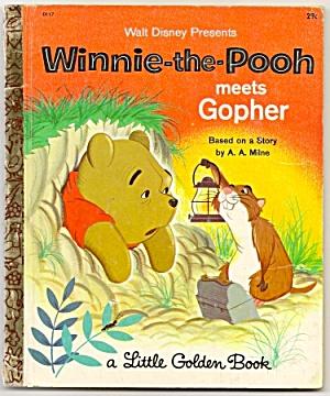 WINNIE THE POOH MEETS GOPHER - Little Golden Book (Image1)
