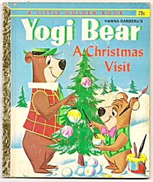 YOGI BEAR - A Christmas Visit - 1961 Little Golden Book (Image1)