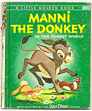 Disney MANNI THE DONKEY Little Golden Book (Image1)