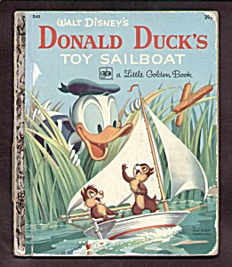 DONALD DUCK Toy Sailboat Little Golden Book (Image1)