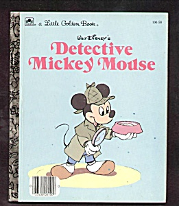 DETECTIVE MICKEY MOUSE -  Little Golden Book (Image1)