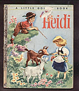 Heidi - Little Golden Book - 1954 - Malvern