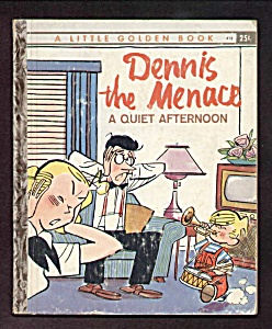 Dennis The Menace A Quiet Afternoon -little Golden Book