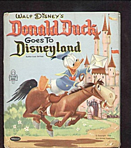 Donald Duck Goes To Disneyland Tell-a-tale Book