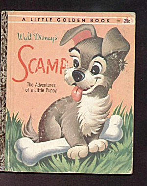 Scamp Adventures Little Golden Book - Disney