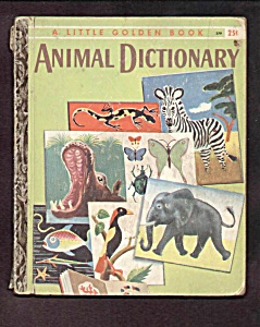Animal Dictionary - Little Golden Book - 1960