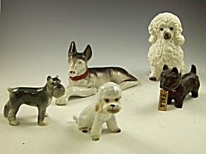 Box Lot Of 5 Pc Dog Fala Fdr Scottie+ 4 - Vintage