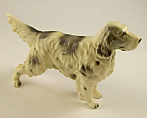 Ceramic English Setter Dog Figurine - Napcoware