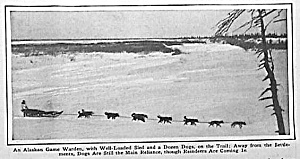 1928 SLED DOGS/Alaska GAME WARDEN Mag Article (Image1)
