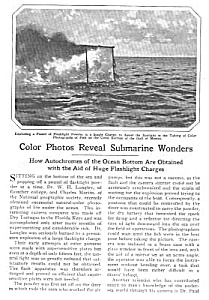 1927 Vint. DIVING/DIVER Ocean Photography Mag. Article (Image1)