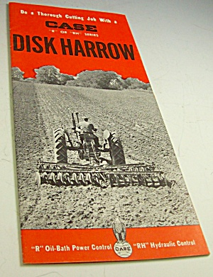 1950s? Case Tractor Disk Harrow Brochure