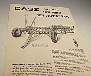 1953? Case Tractor Side Delivery Rake Dealer Brochure