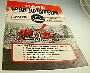 Case Tractor Combo Corn Picker/harvester Dealer Brochure-original