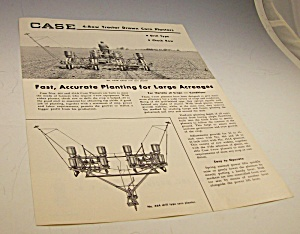 Case Tractor Drawn Corn Planters Dealer Brochure