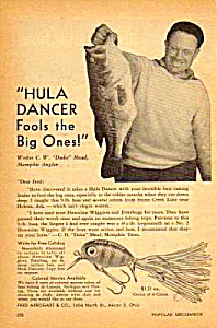 1947 Fred Arbogast Hawaiian Hula Dancer Fishing Lure Ad