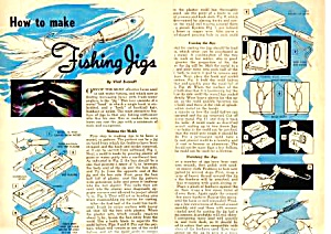 1957 HOW TO MAKE FISHING JIGS Magazine Article (Image1)