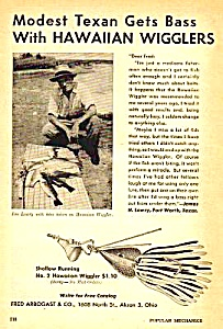 1946 Fred Arbogast HAWAIIAN WIGGLER FISHING LURE Ad (Image1)