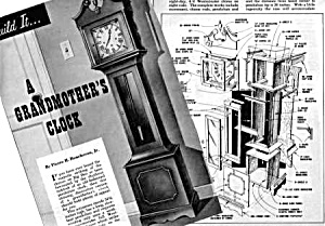1958 GRANDMOTHER CLOCK TO BUILD Magazine Article (Image1)
