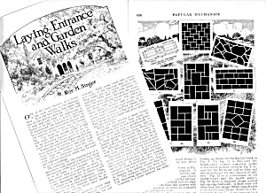 1926 Laying Entrance And Garden Walks Magazine Article