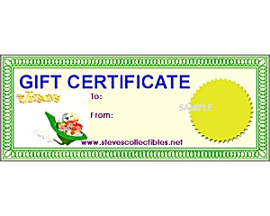 $35 GIFT CERTIFICATE to Steve's Collectibles (Image1)