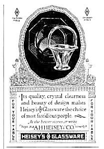 1925 HEISEY'S Glassware Ad (Image1)