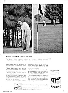 1956 Spalding Par-flites Golf Club Ad