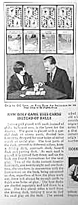 1928 GOLF CARD GAME Magazine Article (Image1)