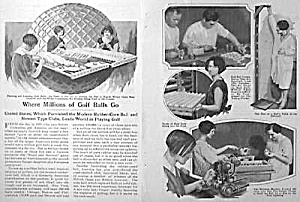 1927 Waffle GOLF BALL MANUFACTURE Mag Article (Image1)