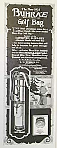 1924 BUHRKE GOLF BAG Magazine Ad (Image1)