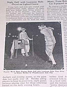 1925 NIGHT GOLF/LUMINOUS BALLS Mag. Article (Image1)