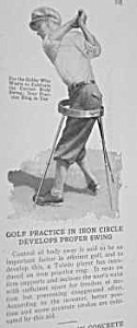 1927 GOLF PRACTICE/Proper Swing Gadget Mag. Article (Image1)