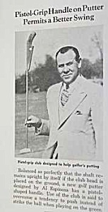 1941 PISTOL-GRIP PUTTER Golf Magazine Article (Image1)